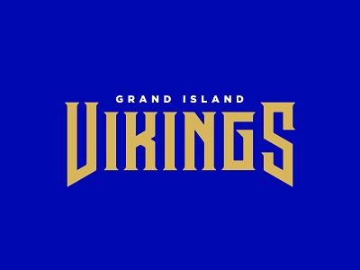Grand Island Vikings stronghold studio buffalo ny typography logotype logo mascot branding sports branding sports vikings viking