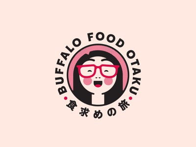 Buffalo Food Otaku japanese food buffalo ny stronghold studio character illustration logo food branding food blogger foodie food japanese