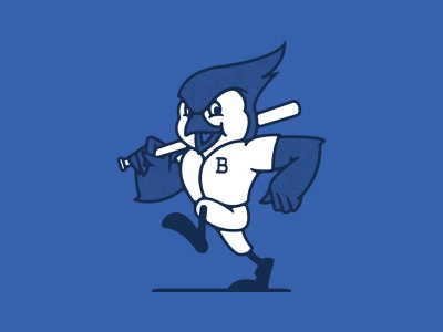 Buffalo Blue Jays buffalo ny stronghold studio illustration mascot baseball sports toronto blue jay blue jays