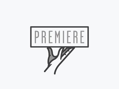 Premiere waiter food service food service hand concept identity branding logo
