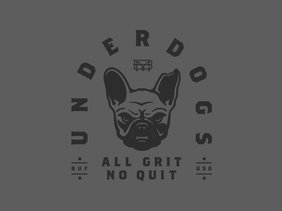 Underdogs bmco french bulldog buffalo illustration graphic tee clothing apparel underdog dog