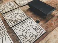 Buffalo Wooden Coasters