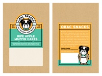 Obac Snacks Label Design