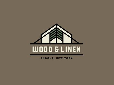 Wood & Linen Logo Concept 1 woods geometric tree wny buffalo ny outdoors glamping camping camp