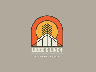 Wood & Linen Logo Concept 3 woods geometric tree wny buffalo ny outdoors glamping camping camp