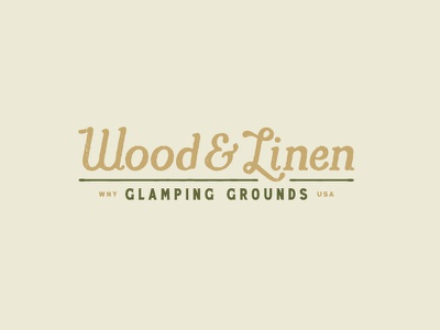 Wood & Linen Logo - Final woods geometric tree wny buffalo ny outdoors glamping camping camp