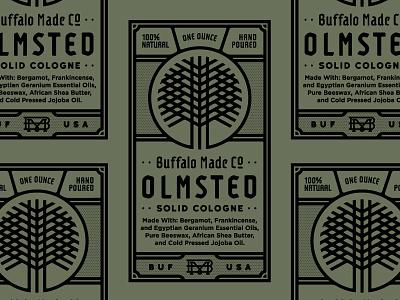 BMCO Solid Cologne monogram cologne tree geometric bmco print design label buffalo ny