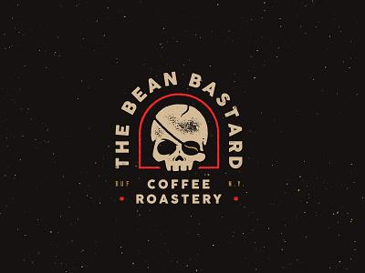 The Bean Bastard buffalo ny skull logo branding eyepatch coffee bean skull coffee