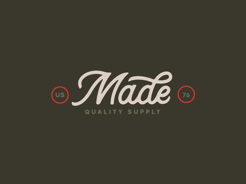 MADE Outdoor Supply III branding logo buffalo ny camping outdoors typography type script