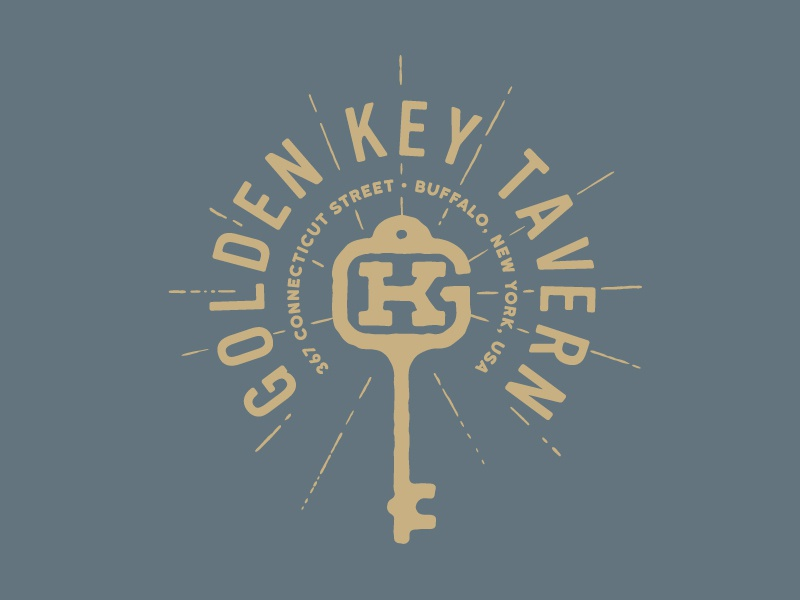 Golden Key Tavern apparel buffalo ny buffalo made co bmco tavern bar key