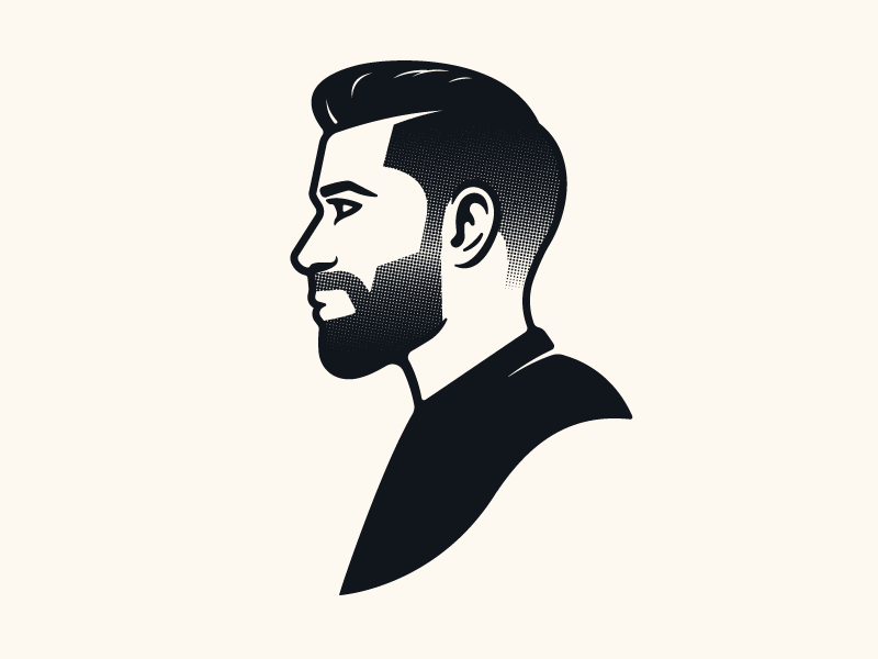 Jonny the Barber III logo branding stronghold studio buffalo ny illustration barbershop barber