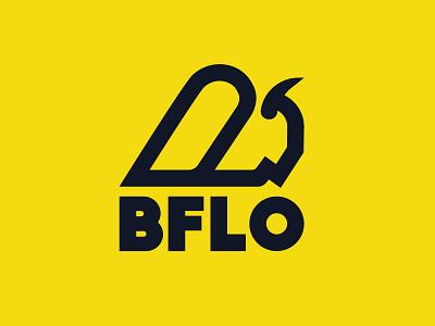 BFLO bflo stronghold studio minimal retro branding logo thick lines buffalo ny bison buffalo