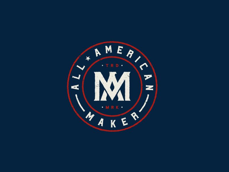 All-American Maker stronghold studio buffalo ny maker usa seal badge american america monogram eagle