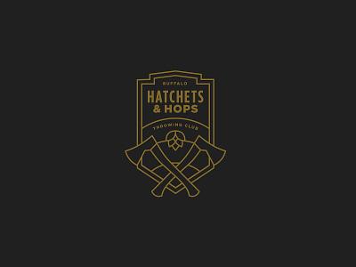 Hatchets & Hops Rebrand Concept rebrand stronghold studio buffalo ny branding crest hatchets axes hops beer