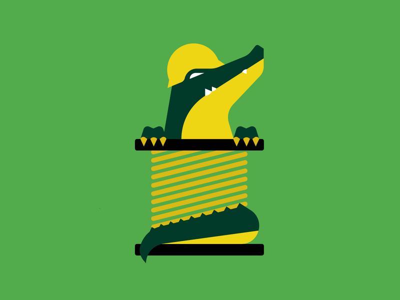 Gator Wire stronghold studio buffalo ny industrial illustration branding animal illustration construction reptile animal alligator gator