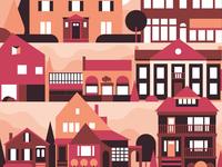 Elmwood Village Illustration