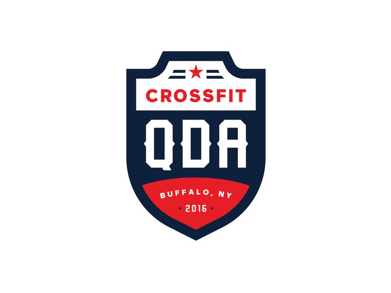 Quarter Deck Athletics Logo Refresh logo design branding shield refresh rebrand stronghold studio buffalo ny crossfit gym