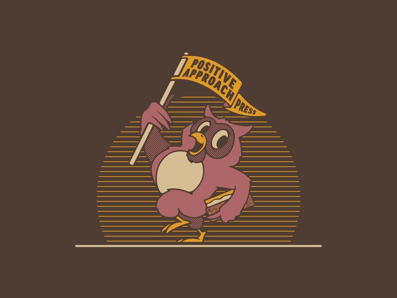 Positive Approach Mascot buffalo made co stronghold studio buffalo ny illustration character animal owl bird mascot