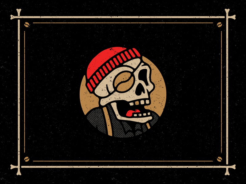 "Introducing ""Little B"" foodtruck camper buffalo ny stronghold studio branding illustration mascot character mascot coffee skull skeleton"