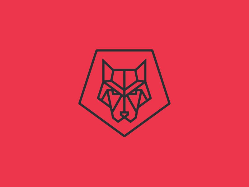 Unused Wolf Mark stronghold studio monoline buffalo ny identity branding dog animal wolf