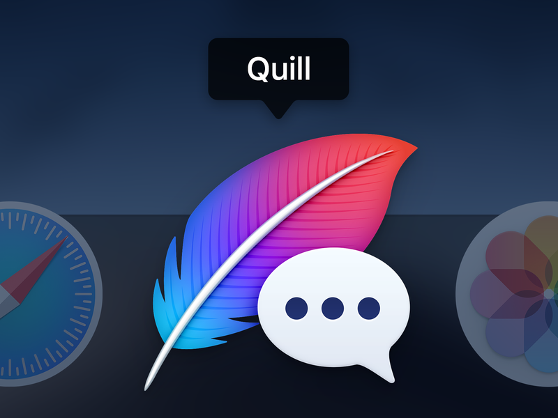 Quill chat icon macos