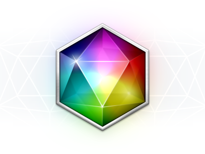 Einhorn gem jewel rainbow icosahedron