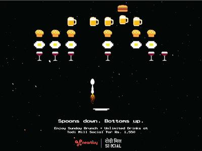 Space Invaders (Food parody)