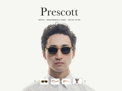 C:S Product Detail Page eyeglasses pdp eyewear typography product detail page