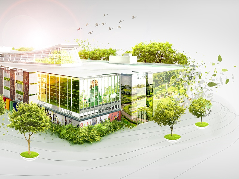 Victoria Gardens Mall Visualization by Marianna Pashchuk - Dribbble