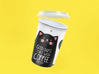 Coffee cup with cat