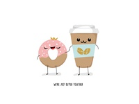 Coffe+Donut=Love))
