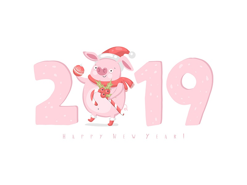 Year of pig)) by Marianna Pashchuk - Dribbble