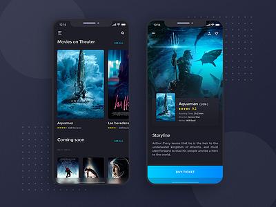 A Movie App 800x600 uidesign design ux  ui ux ux design ui ui  ux design movie card movie booking movie app movie