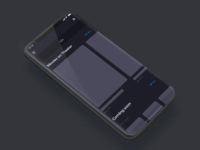A Movie App ui interface animacion anim 动效 dynamic effect mp4 effect app ux  ui ux design ux uidesign movie movie card movie booking movie app design