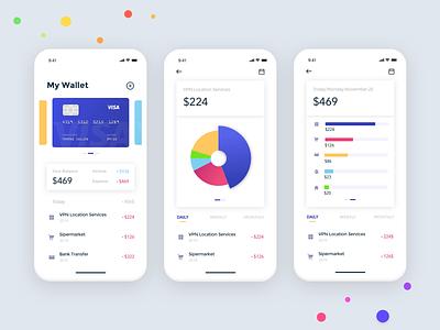 Wallet Design finance app finance app ux  ui ux design ux uidesign wallet ui  ux design ui design