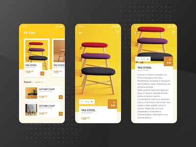 A furniture application design exercise app ux  ui ui  ux design uidesign design