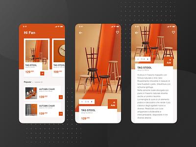 A furniture application design exercise No.2 ux design app ux  ui ui  ux design ui uidesign design