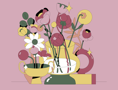 Mother's Day graphic illustration mothersday bouquet floral