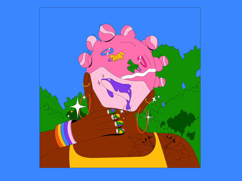 Glitter_#1 earings graphic hair glitter