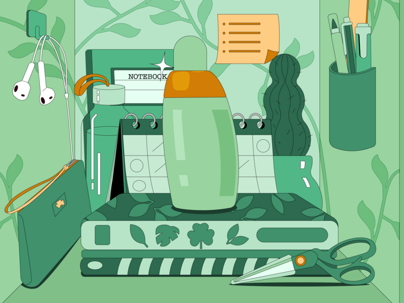 Back to school locker branding illustration character graphic design school