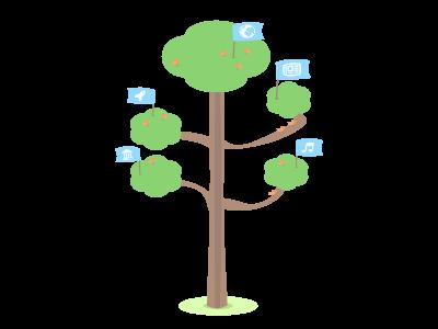 Illustration of the social tree affinity designer illustration