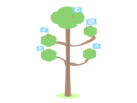 Illustration of the social tree