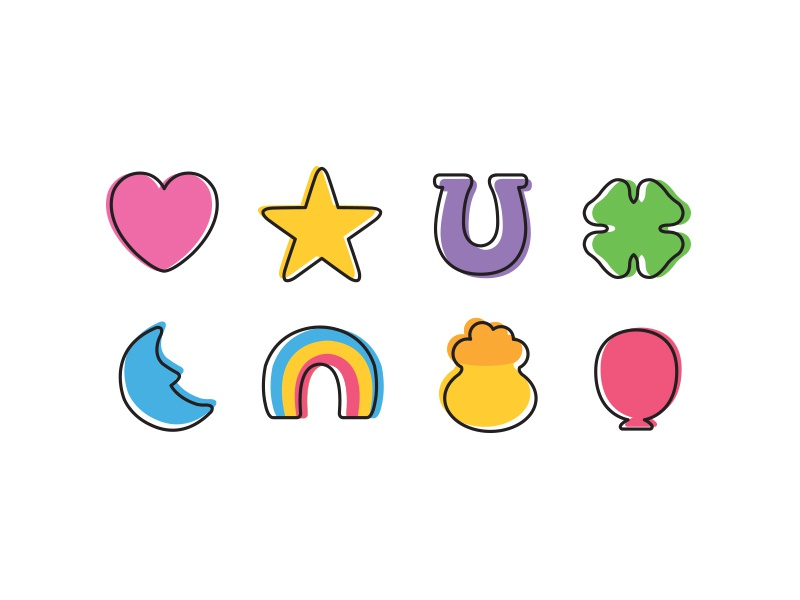 Magically delicious by casey yoshida dribbble dribbble - Lucky color of the day ...