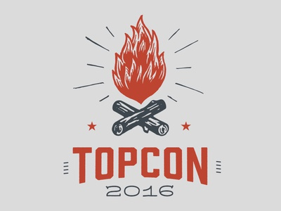 TopCon Campfire Badge campfire badge design chattanooga topcon