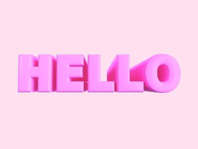 Hello! Dribbble c4d