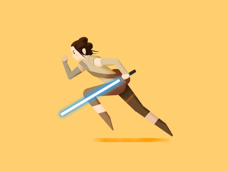 Rey rey digital character starwars fanart star wars illustration procreate