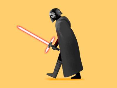 Kylo Ren star wars starwars kylo ren procreate illustration fanart digital character