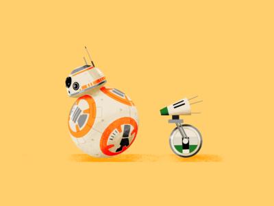 BB-8 & D-O star wars starwars procreate d-o bb-8 illustration fanart digital character