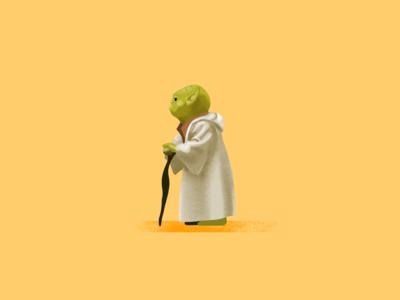 Yoda star wars starwars procreate illustration fanart digital character yoda