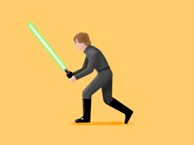 Luke Skywalker illustration procreate character star wars starwars fanart digital skywalker luke